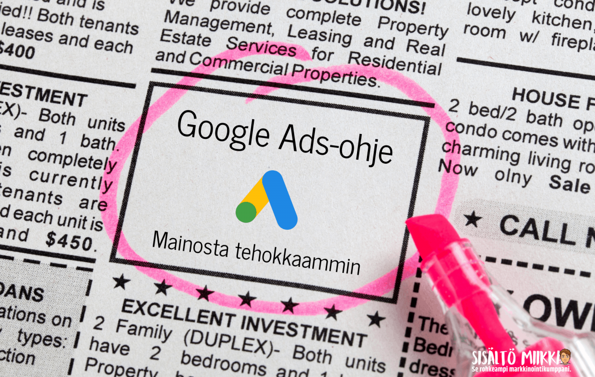 google ads ohje