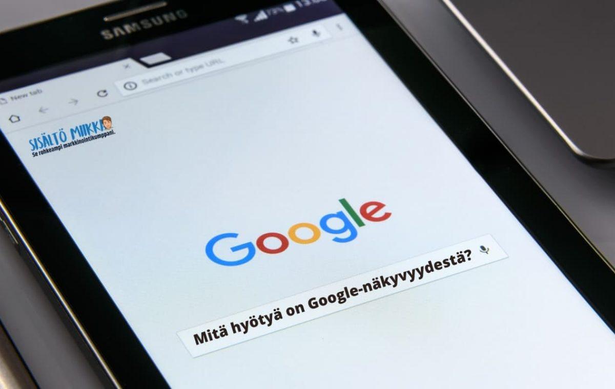 google hakukone näkyvyys